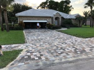 stone residential driveway in Palm Coast