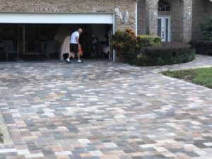Residential stone driveway