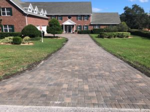 Paved residential driveway
